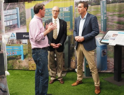Leader Of The Opposition, Michael O'Brien, Visits The Replas Environmental Centre